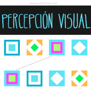 Fichas de percepción visual con colores