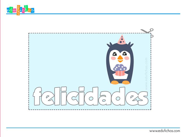 tarjeta cumple niños
