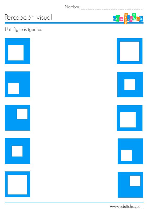 hojas de trabajo de percepción visual