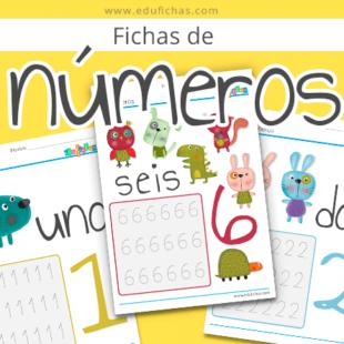 Fichas de números 2017
