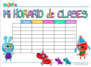 horario de clases para 2017