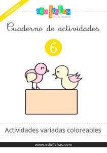 cuaderno de actividades coloreable