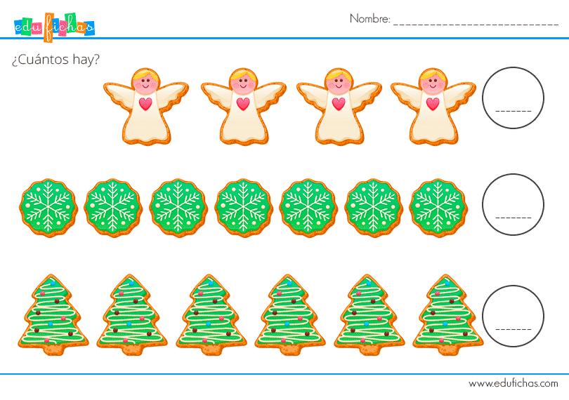 hojas imprimibles con ejercicios de navida para los niños