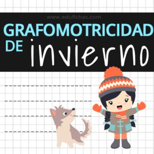 fichas de grafomotricidad de invierno
