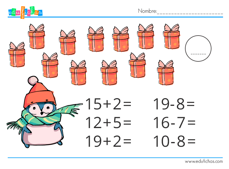 matematicas navidad infantil