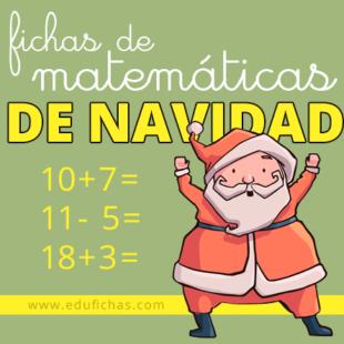 Fichas de matemáticas de Navidad