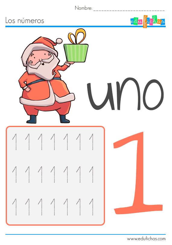 fichas de numeros de navidad