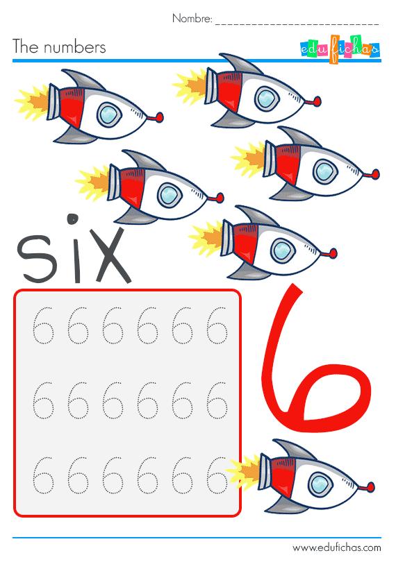 numeros en ingles 6