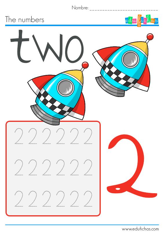 fichas para que los niños aprendan los numeros en ingles