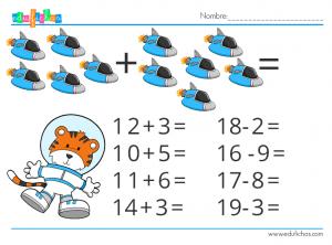fichas de matematicas