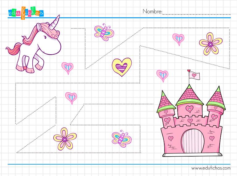 ejercicios de grafomotricidad con dibujos de castillos