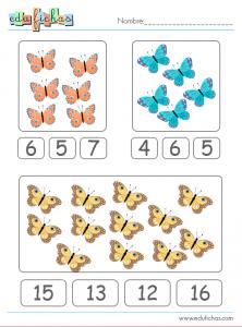 ficha con mariposas