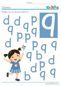 dislexia letra q