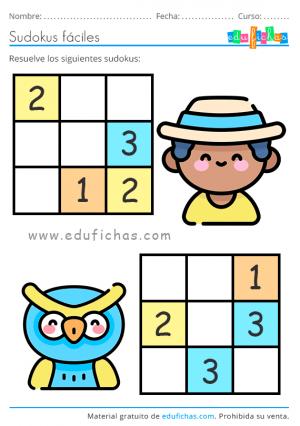 pasatiempos de primavera para niños sudoku