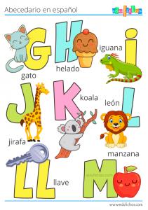 abecedario en español