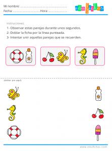 memoria para niños ejercicios