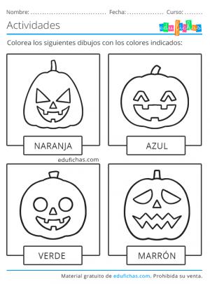 colores de halloween actividades