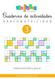 cuaderno de grafomotricidad con cuadriculas