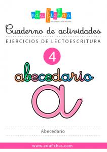 cuaderno abecedario español