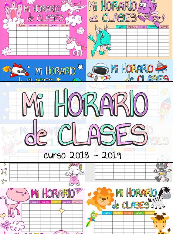 horarios de clase 2018 2019