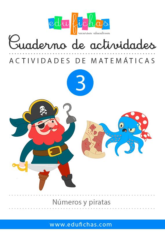 cuaderno numeros piratas