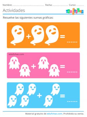 sumas graficas halloween
