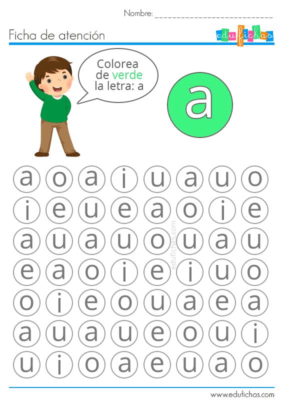 Estimulacion cognitiva atencion letras
