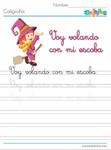 caligrafia de halloween para niños
