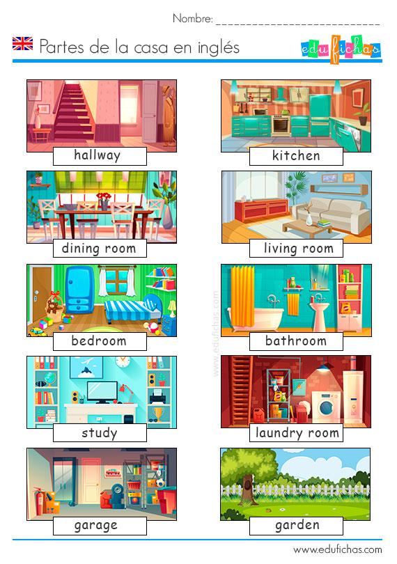 la casa en ingles para niños