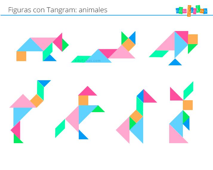 tangram figuras con animales