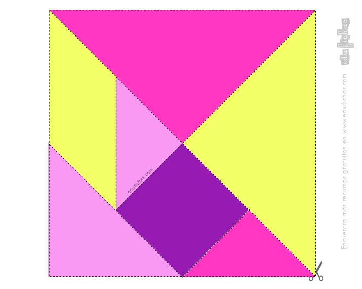 plantilla imprimir tangram color 1