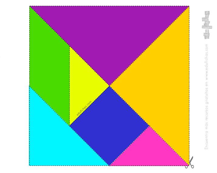 plantilla imprimir tangram color 2