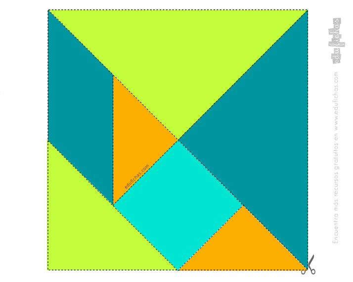 plantilla imprimir tangram color 3