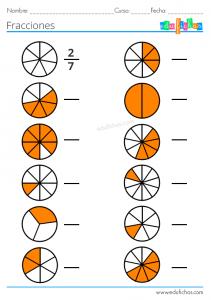fracciones para primaria