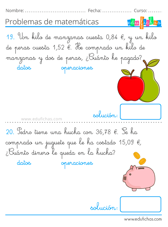 Problemas De Matematicas Para Ninos Con Sumas Y Restas 2019