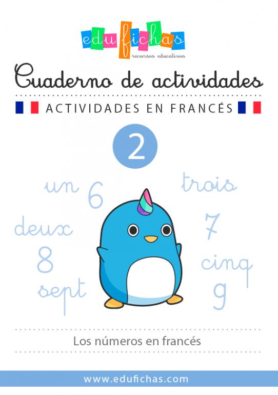 cuaderno de numeros en francés