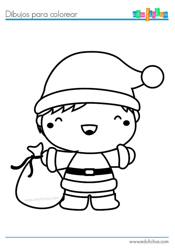 Dibujos Para Colorear De Navidad Cuadernos Para Niños