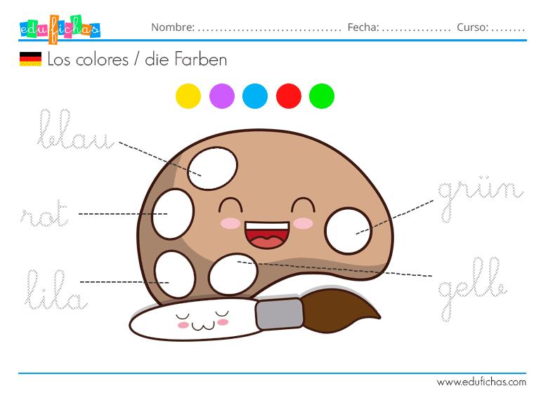 colores aleman infantil