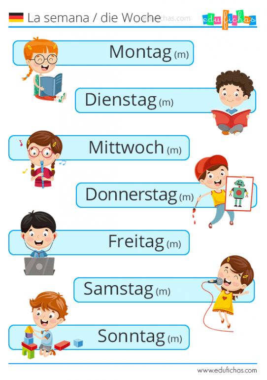 dias de la semana en aleman