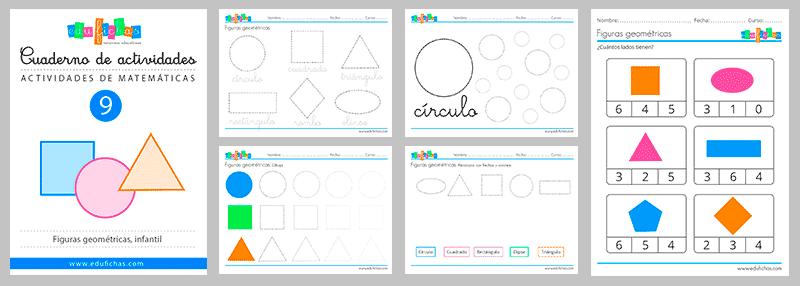 cuaderno de las formas geométricas para infantil