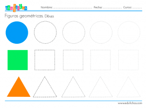 dibujar las formas geométricas