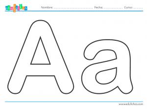 las letras para colorear