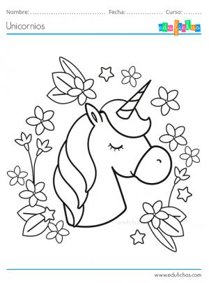 cabeza de unicornio para pintar
