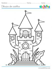 castillos colorear