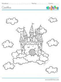 castillos para colorear
