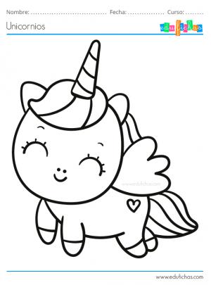 colorear unicornio alado