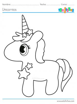 colorear unicornio bebe bonito