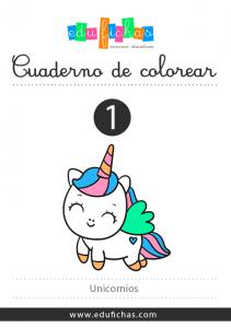 cuaderno para colorear de unicornios