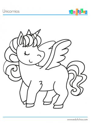 dibujo unicornio alado