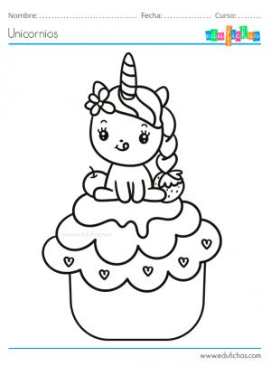 Dibujos Para Colorear De Unicornios Kawaii Para Imprimir